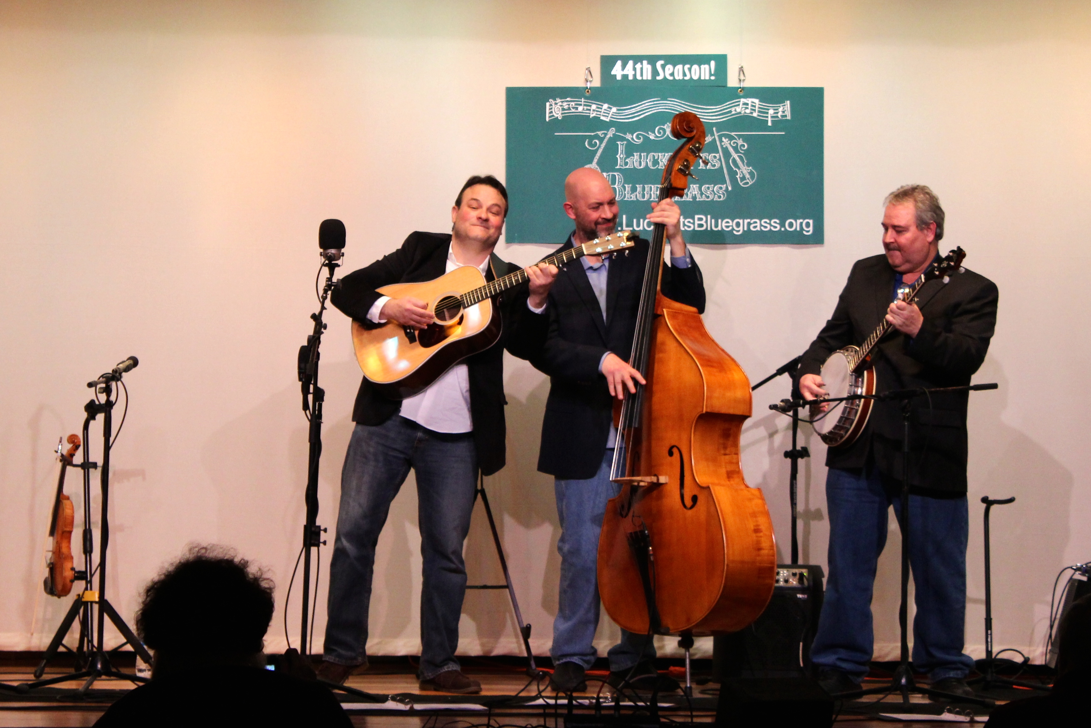 """""""The Mike Mitchell Trio won over the Lucketts Bluegrass crowd with their fresh take on traditional American music.  Whether performing original tunes, bluegrass classics, or fiddle tunes, they did so with joy and skilled musicianship."""" ~ Karen Capell Lucketts Bluegrass"""